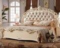 Velvet backrest luxury antique style bedroom set A811