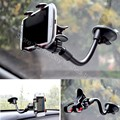 Car Automobile Mobile Cell Phone Suction Cup Stand Holder for Smartphone/Cellphone/Lenovo/LG Long Arm Hose Dual Grip Mount Clamp