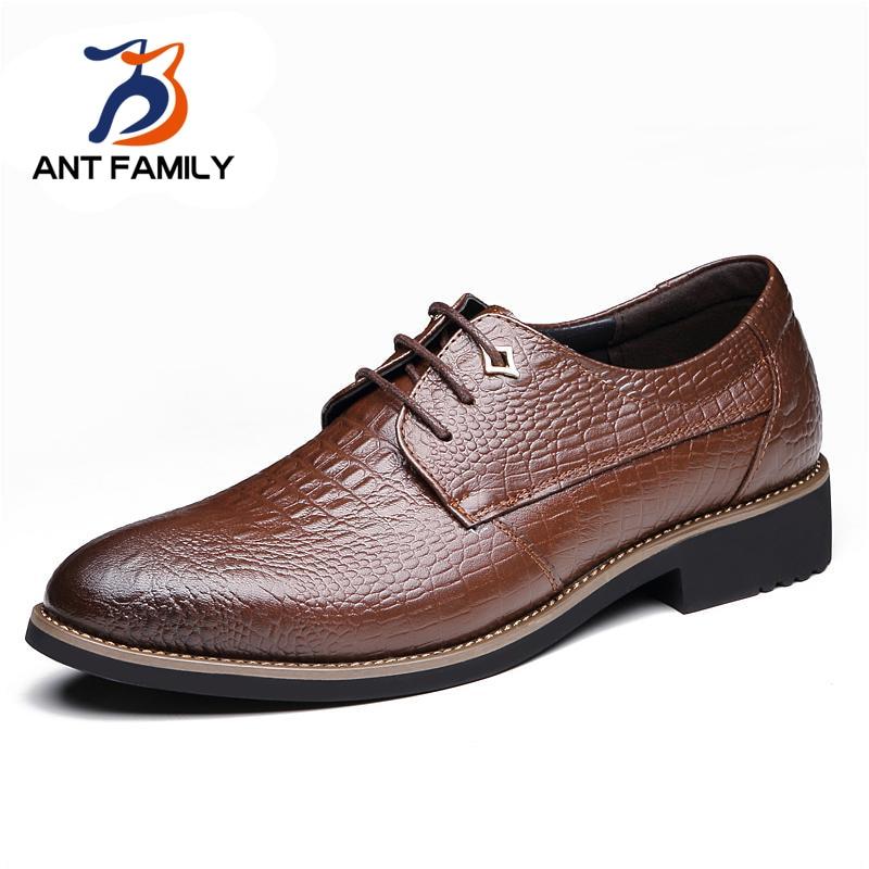 Hot Sale Fashion Crocodile Grain Leather Lace Men Shoes Luxury Brand Trend Wedding Shoes Mens Business Leisure Shoes Zapatillas от Aliexpress INT