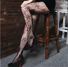 2016 Hot Fashion Women Sexy Black Fishnet Pattern Jacquard Calcetines Leg Warmers Stockings Pantyhose  NB123