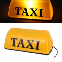 UXCELL 12V Led Taxi Cab Roof Top Sign Light Lamp Magnetic Yellow 11