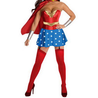 Halloween Costumes For Women Wonder Woman Super Hero Costume Adult Sexy Dress Cartoon Character Costumes Clothing