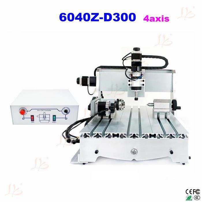 Russia no taxes LY CNC router  4 axis  cnc milling machine 6040z-d300  Engraving machine russia no tax cnc 6040z d300 engraving machine cnc router milling machine cnc 6040z d300w for cutting wood acrylics mdf