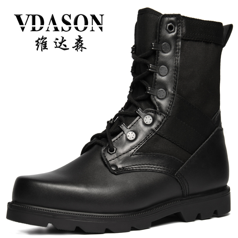 Special Forces Desert Army Boots Spider Men High Top Combat Tactical Long Boots Military Lace Up Shoes White Black Leather S3095