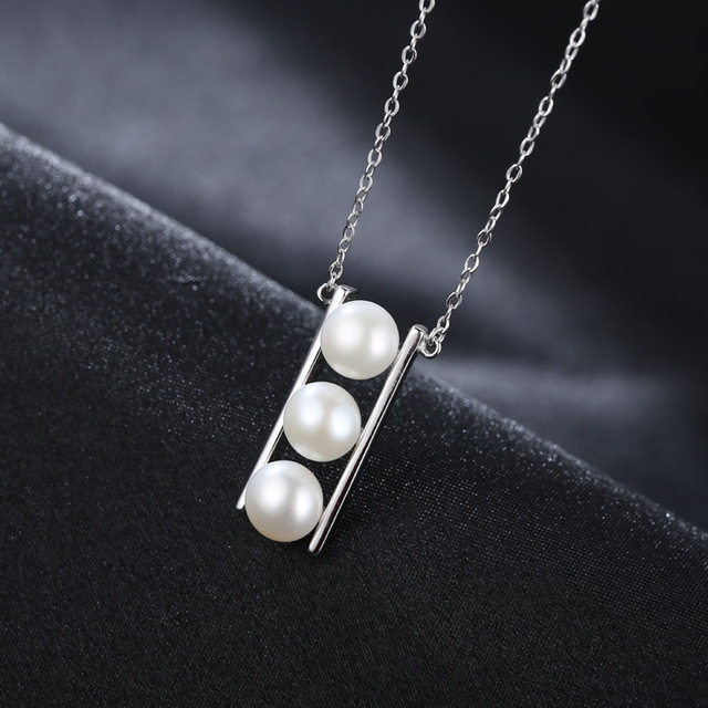 Natural Freshwater Pearl 925 Sterling Silver Necklace