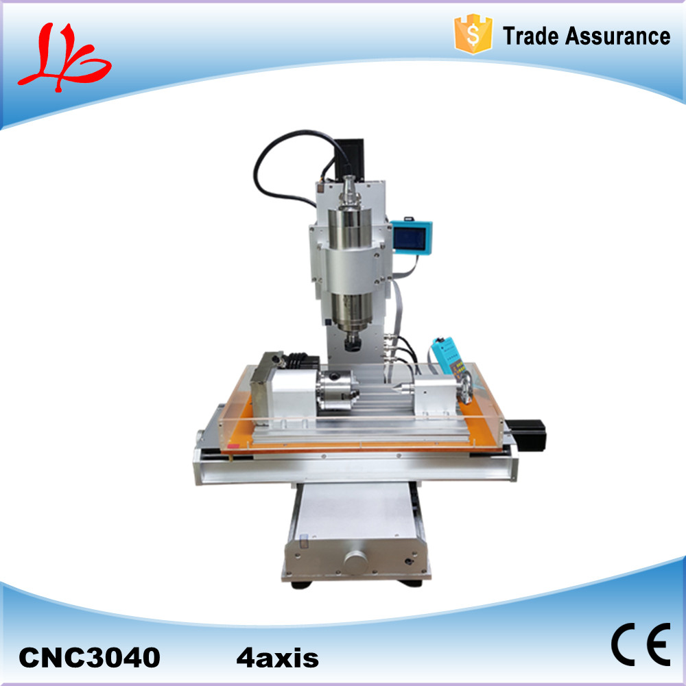 4 axis CNC 3040 pillar type CNC engraver 1.5KW Table Column Type woodworking router ship to Russia free tax