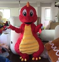Red dinosaur mascot costume Lovely dinosaur costume