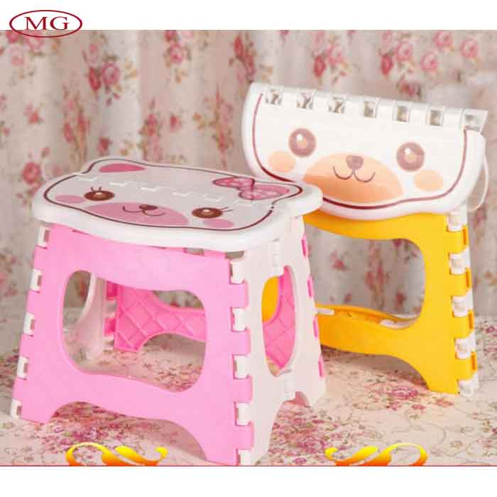 Cute cartoon animal printed plastic folable chair portable for Cute kids chairs