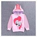 Jaqueta de Primavera Menina Crianças Pônei Dos Desenhos Animados Casacos Crianças Com Capuz Casacos e Jaquetas de Meninas Roupas Da Criança Casual Sweatershirt