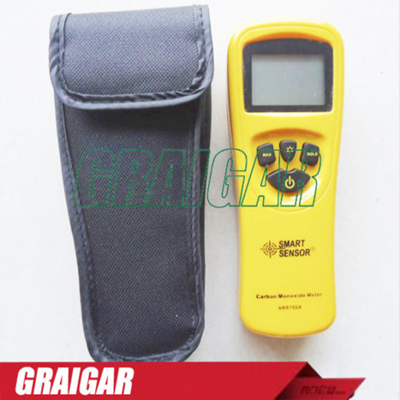 SMART SENSOR AR8700A Digital Carbon Monoxide Meter CO Monitor Gas Leak Detector Analyzer