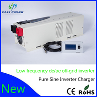 Free shipping 24v/48v low frequency 5000w air conditioner inverter,off grid pure sine wave inverter charger