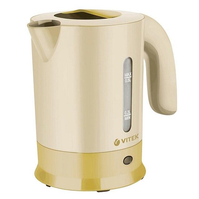 Чайник дорожный Vitek VT-7023 Y(корпус из высококачественного пластика, объем 0.5 Л., мощность 650 Вт, 2  кружки)