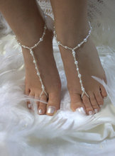 Imitation pearls and pearl crystal beads beach wedding, a beach wedding sandals. Looking for something special to your feet.