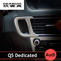 Car keyhole decorative panel covering floor trim car interior styling accessories stainless steel strip 3d stickers for audi q5