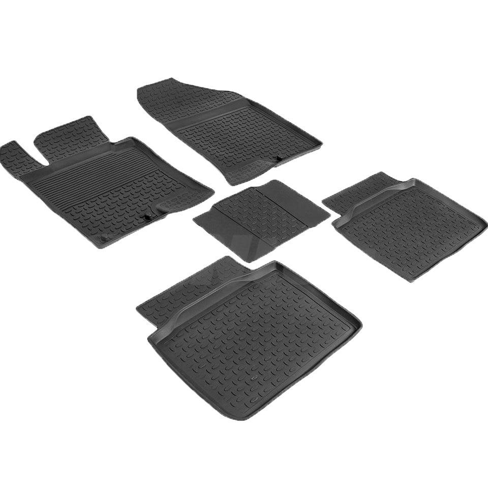 цена на Rubber floor mats for Kia Optima III 2010 2011 2012 2013 2014 2015 Seintex 86404