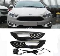 2X DRL Dimming Style Relay White Daytime Running Fog Light Lamps LED Bumper Front Fog Lamp