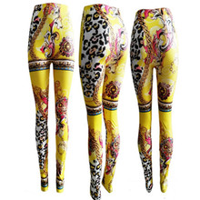 New Vintage Tartan Red Piano Keyboard Muscle Galaxy Space Digital Print Pants Gold Milk Fitness Leggings For Women