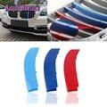 3 Colores Cubierta de ABS Moldeado 3D M Estilo Frontal Grille Recorta Tiras Motorsports Etiquetas Engomadas del coche Para Bmw X3 X1 X4 X5 X6 1 3 5 Series
