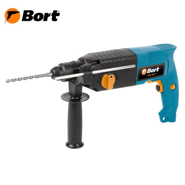 Перфоратор электрический Bort BHD-700-P (Мощность 700 Вт, энергия удара 3 Дж, Реверс, 3 режима работы)