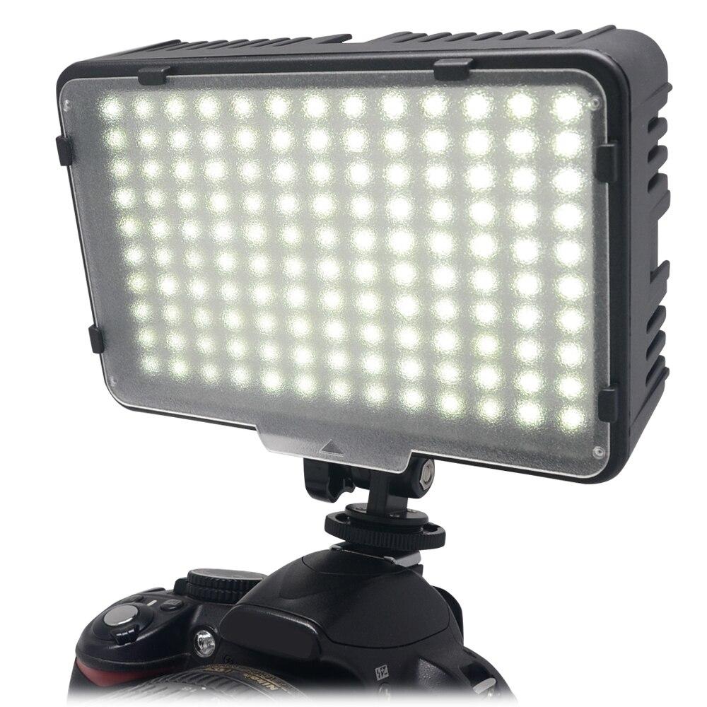 Mcoplus 130 LED Luz de fotografía de vídeo iluminación para Canon Nikon Sony Panasonic Olympus Pentax y DV Cámara Comcorder VS CN-126