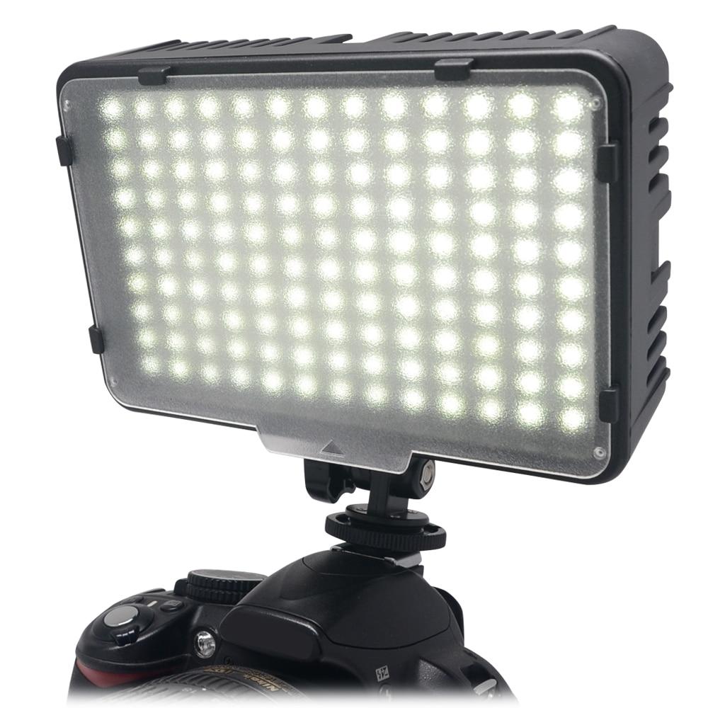Светодиодный (130) фонарь Mcoplus для освещения объектов видео/фото съёмки для камер Canon Nikon Sony Panasonic Olympus Pentax & DV Camera Comcorder VS CN-126.