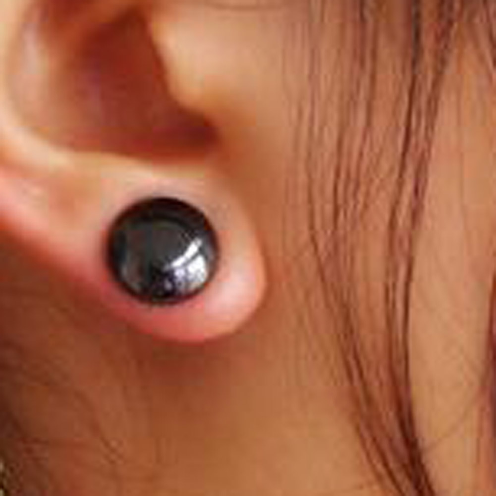 1 Pair Fashion Women & Men Acupoint Massage Magnetic Stud Earrings Slimming  Suppression Of Appetite Magnetic