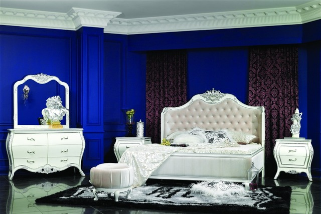Luxury Bed, Replica Upholstered Bed, Italy Style Classical bedroom  furniture Set 0402 6015A-in Bedroom Sets from Furniture on Aliexpress.com |  Alibaba ...