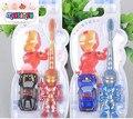 BBHL026 Historieta iron man shape niños cepillo de dientes suave Material de enviar un coche de juguete Adecuado para niños mayores de 3 años de edades