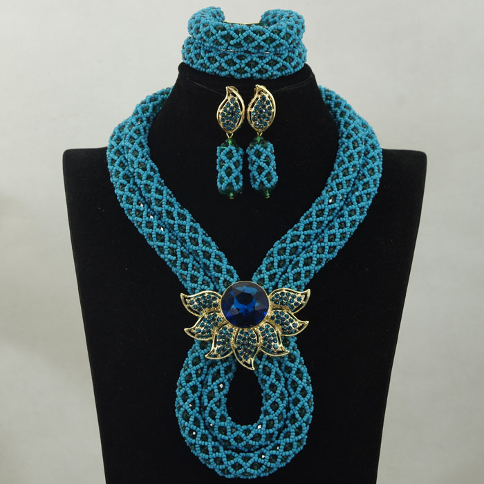 Charms Teal Blue Party African Women Jewelry Set Crystal Rhinestone Necklace Earrings Brooch Fashion Jewelry Free shipping WA895Charms Teal Blue Party African Women Jewelry Set Crystal Rhinestone Necklace Earrings Brooch Fashion Jewelry Free shipping WA895