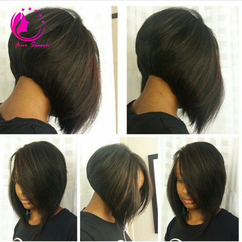 2016 Short Glueless Bob U Part Wig Brazilian Virgin Hair