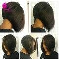 2016 Short Glueless Bob U Part Wig Brazilian Virgin Hair Side Part Human Hair Bob Wigs For Black Women Upart Wig Free Shipping