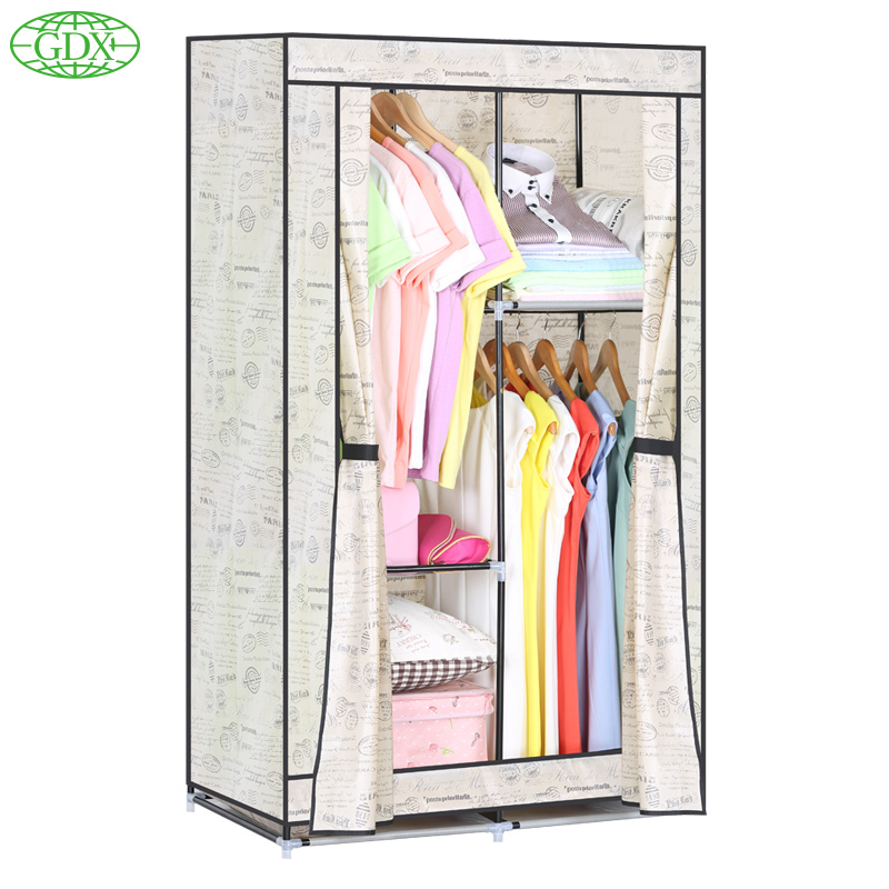 Cheap Wardrobe Closet Part - 36: GDX Brand New Wardrobe Closet Large Wardrobe Cabinets Simple Folding  Reinforcement Clothes Store-in Wardrobes From Furniture On Aliexpress.com |  Alibaba ...