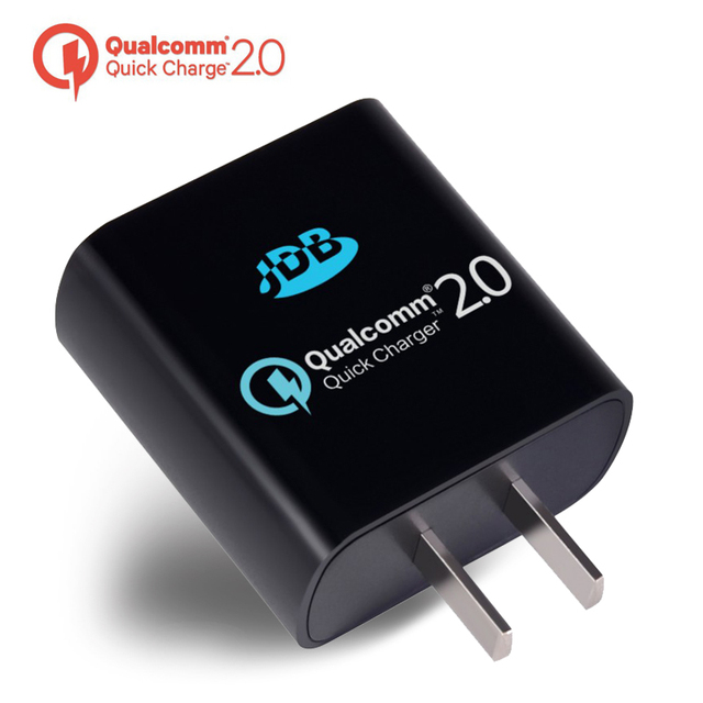 JDB Quick Charge 2.0 with Qualcomm Certificated 5V 9V 12V 18W Wall Fast Charger EU US Plug Multifunction Mini Travel Charger