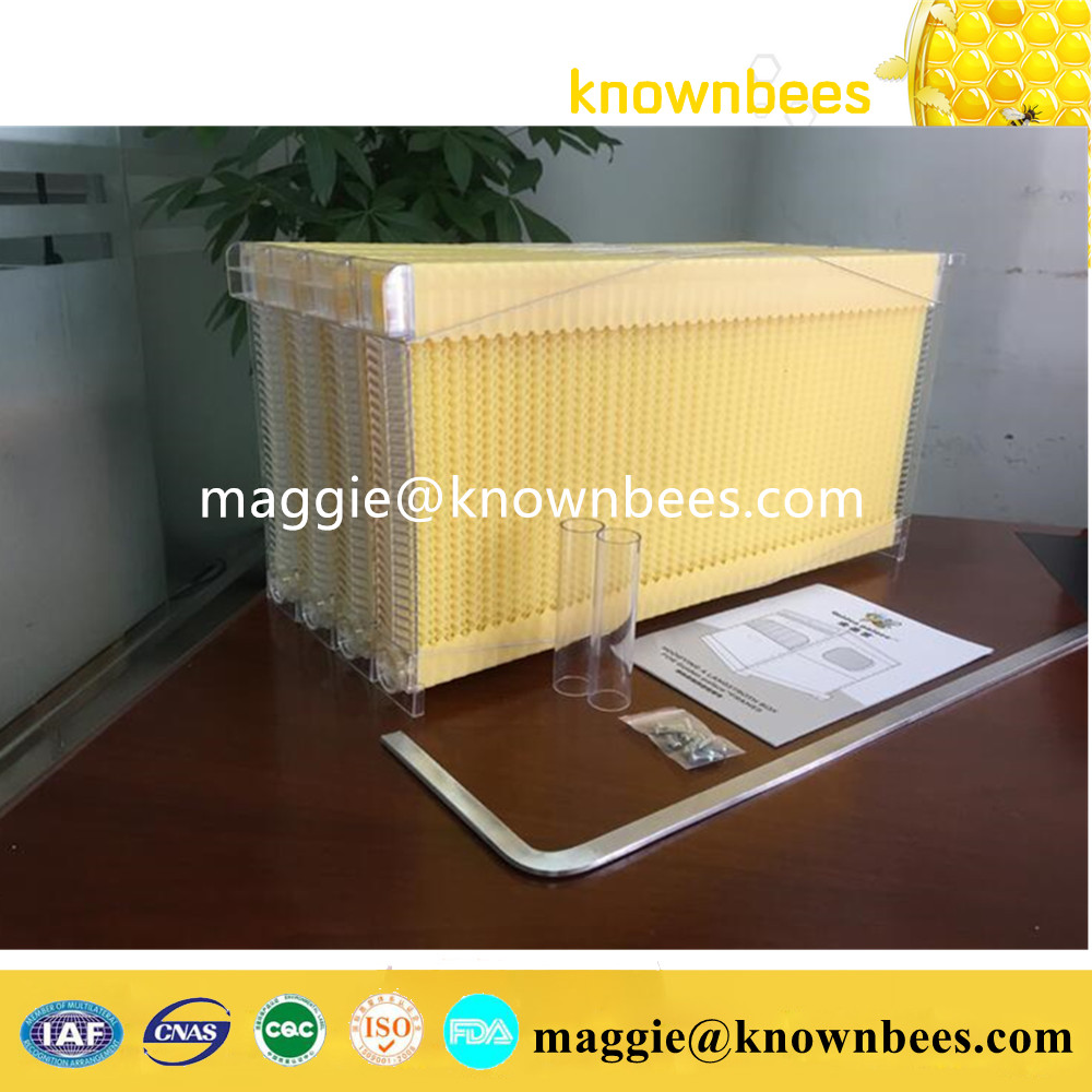honey self flowing bee hive frames 1 carton with 7 pcs 5 beekeeping bee hive frames honey container honey lattice produce box 250g