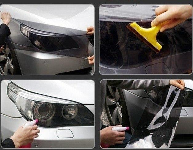 Auto Car Sticker Smoke Fog Light Headlight Taillight Tint Vinyl Film
