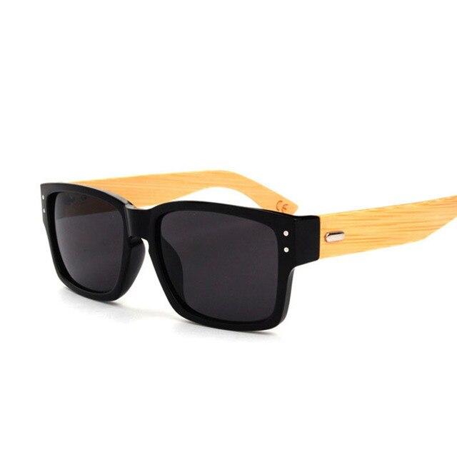 Высококачественные солнцезащитные очки Bamboo, ретро стиль, мода 2016, мужские деревянные солнцезащитные очки. Солнцезащитные очки квадратной формы Oculos de sol