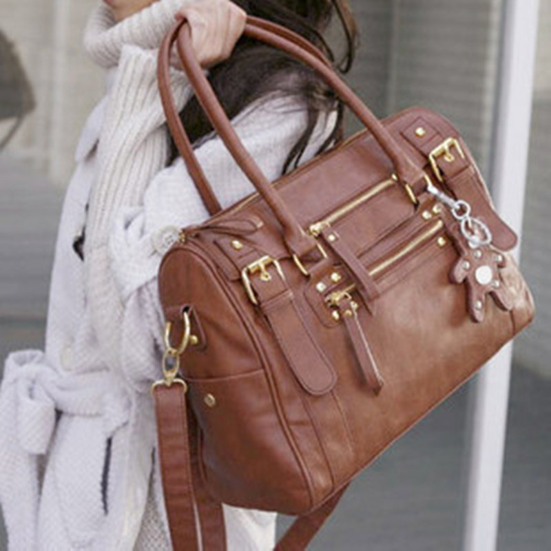 Hot!!!Female bags 2017 women's handbag vintage belt bear female shoulder bag mes