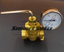 Бесплатная доставка 1 » Dn25 латунный женский редукционный клапан сброса давления с 1.6mpa датчик трубы место DF2871