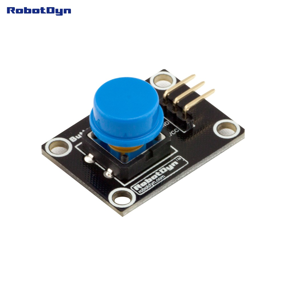 Button Key Switch Module (BLUE). With LED Light Of Action.