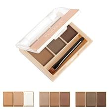 Professional Brow Eyebrow Powder Brush Palette Shading Makeup Comestic Tool Set