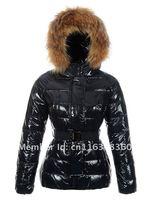 женский пуховик с Заголовок с Корк дизайн меховой стоит с ремень лучшее качество мода брендов-dams пуховик размер XS-ххl
