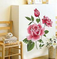 50 * 70 см розы бабочка съемные стены этикеты винила искусства главная декор Сделай сам стены стикер