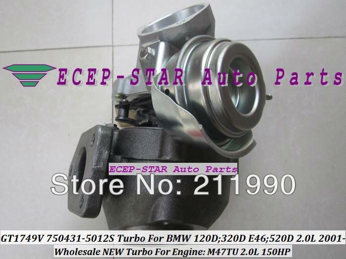 GT1749V 750431-5012S 750431-5009S 750431 Turbo Turbine Turbocharger For BMW 120D 320D E46 520D 2.0L 2001- M47TU 150HP (3)