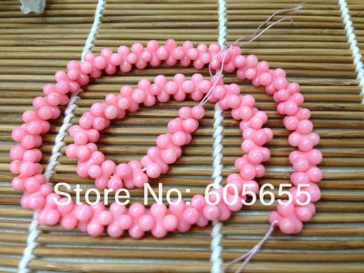 3x6 мм розовый коралл Малый формы арахиса Бусины полудрагоценный камень свободные Бусины для ювелирных изделий 10strands В партии
