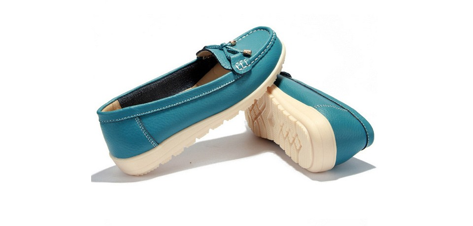 Leather women flats shoes 5