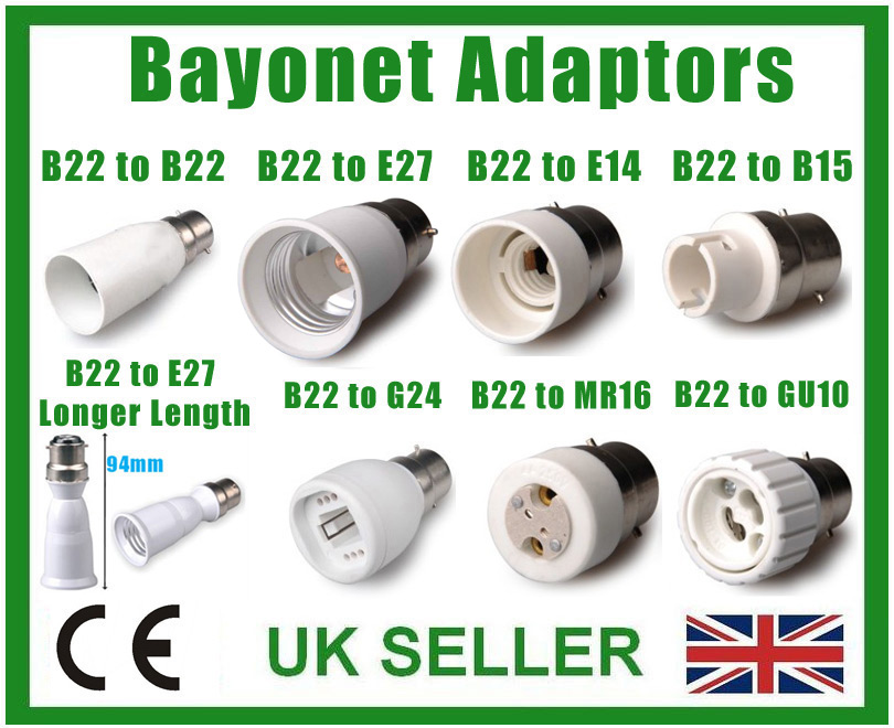 per LED CFL Smart RGB Playbulb Music Light Bulb Speaker OPSLEA Convertitore da B22 a E27 da BC a ES Estendi portalampada da baionetta a Adattatore a Vite Edison