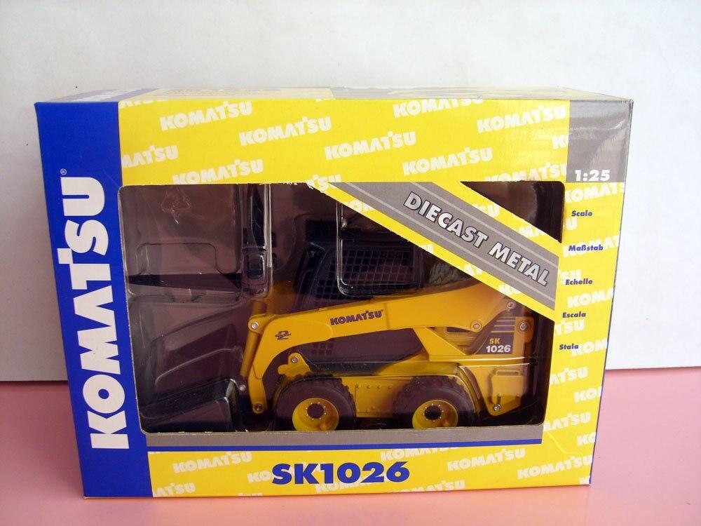 1:25 Komatsu SK1026 с бортовым поворотом игрушка погрузчик