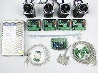 CNC Router Kit 4 Axis 4pcs 1 Axis TB6560 Driver One Interface Board 4pcs Nema23 312
