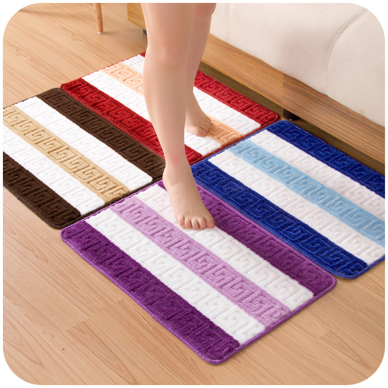 mat for living room 60 40cm door mat color striped mats carpets for bathroom 13748