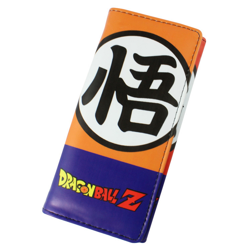 Long PU wallet wtih button printed with Son Goku/Master Roshi of Anime Dragon Ball Type A